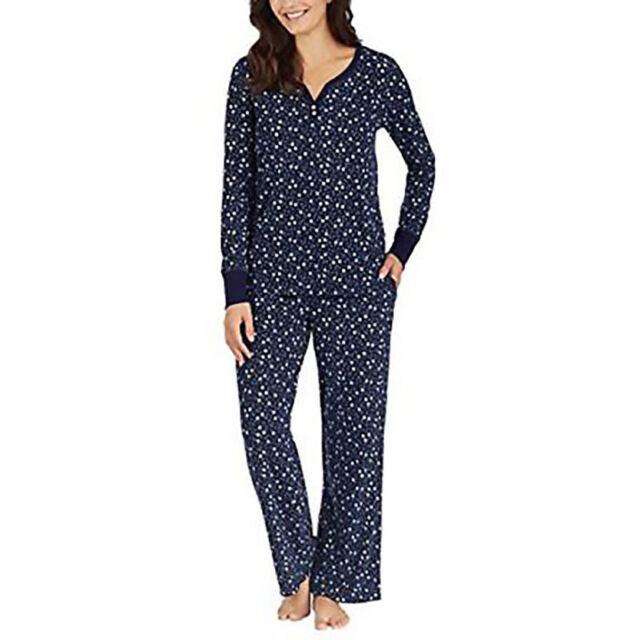 Nautica Womens 2 Piece Fleece Pajama Sleepwear Set Size XXL NWT