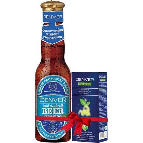 Denver Anti Dandruff Beer Shampoo With Overnight Anti-Dandruff Lotion-200 ml+30g