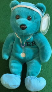 CELEBRITY-BEARS-1998-Star-23-Goerge-Clooney-034-ER-034-TV-Show-9-034-Bean-Bag-Plush-MWMT
