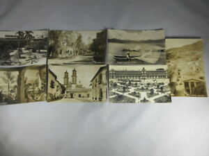 Lot-of-7-Vintage-Real-Photo-Postcards-RPPC-Mexico-1930-1950-039-s-019
