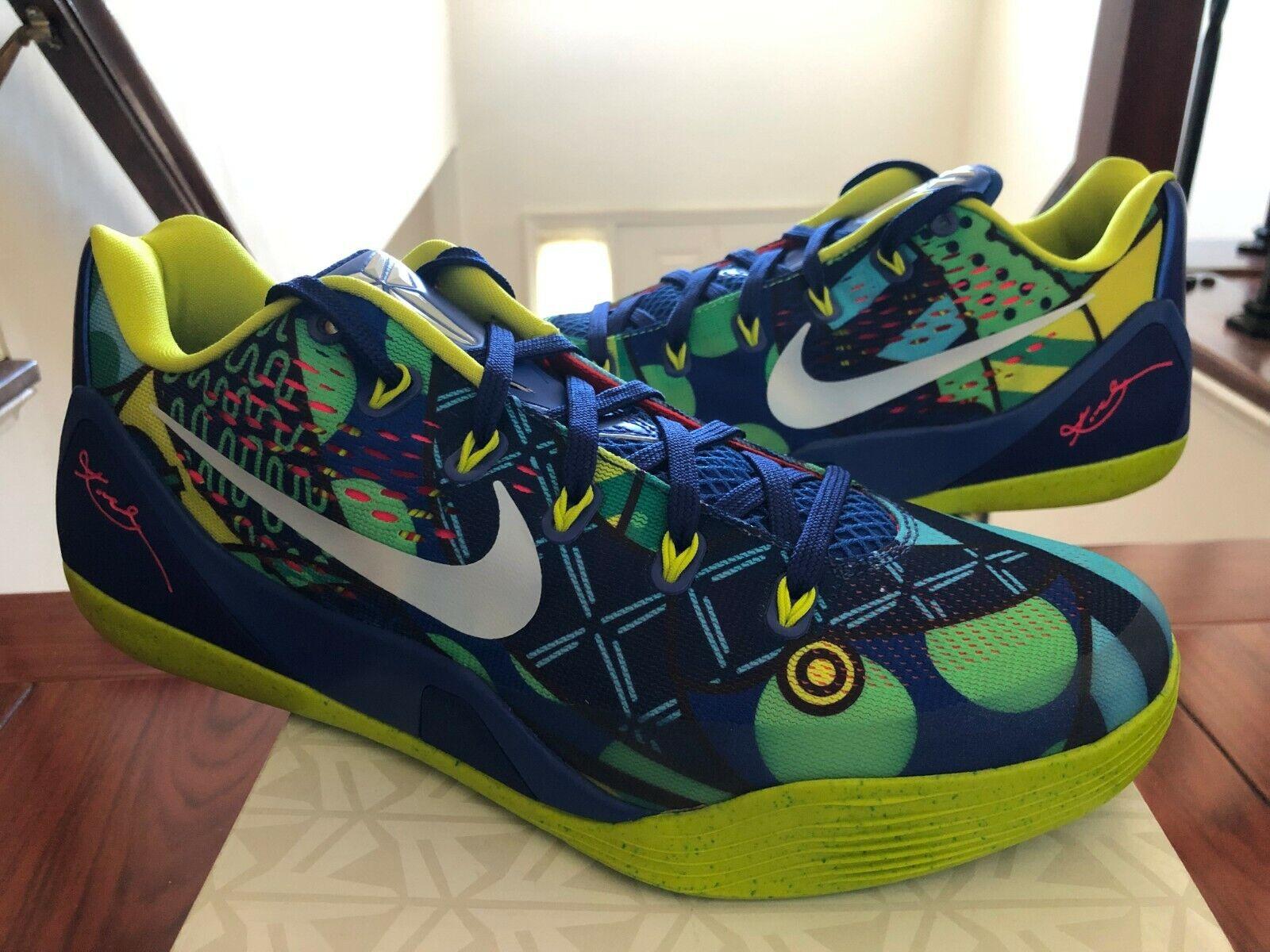 Nike Kobe IX EM 9  Brazil  size 10 Pre-Owned with Box 646701-413
