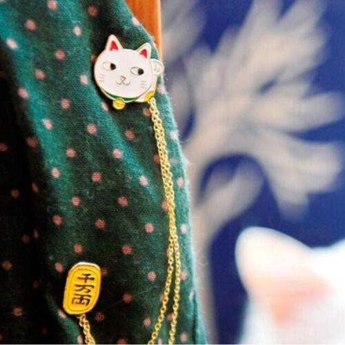 Moda Cadena de conejo lindas huevo Gato Luna broche insignia con Pin Collar Broches Pins