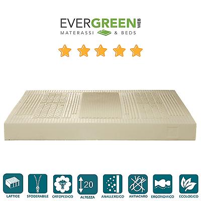 Inteligente Materasso 90x195 Lattice Singolo H20 Ecologico Rivestimento Termico Evergreenweb