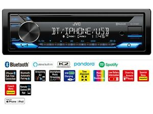 JVC Single Din Digital Media Receiver Bluetooth Car Stereo Phone USB AM/FM Radio