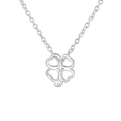 45cm // 18 inch 925 Sterling Silver Clover Pendant Necklace Design 9