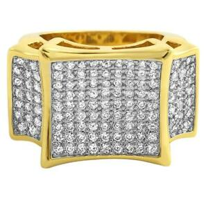 6f290f6e58e1f Details about Large Kite Baller Bling Gold CZ Hip Hop Mens Ring Iced Out