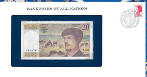 *Banknotes of All Nations France 20 Franc 1980 AUNC P 151a series T.006