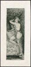 Erotische Exlibris Radierung von JOSEPH FUGLISTER (Schweiz) 1915