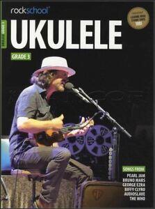 La Fourniture Rockschool Ukulélé Grade 3 Tab Music Book & Audio à Partir De 2017 Jour Même Expédition-afficher Le Titre D'origine