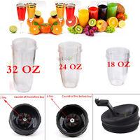 Nutri Bullet Replacement Part Juicer Cup Mug 18/24/32oz 6/7 Fins Blender Lid