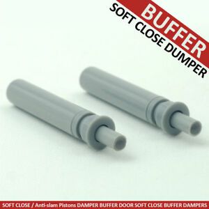 Details about SOFT CLOSE ANTI SLAM PNEUMATIC DOOR PISTON DAMPER BUFFER SOFT  PUSH LATCH GREY