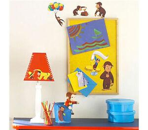 Http Www Ebay Com Itm Wall Sticker 20 Pc Curious George Reusable Children Room Decor Nip
