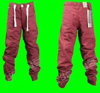 New Boys ENZO Chinos Cuffed Ankle Pants Jeans Maroon Kids Sale Waist Size 24-29