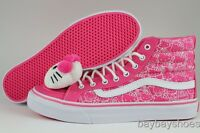 VANS SK8-HI SLIM HELLO KITTY PLUSH HEAD HOT PINK/WHITE/BLACK HIGH US WOMEN SIZES