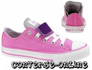 Scarpe Pink taglia da Bambina 11 Tongue Purple Converse Star All Uk Double Scarpe PqzwXUw