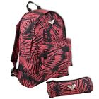 Roxy Quiksilver Palm Tree Backpack School Bag Pencil Case Girls Womens Ladies