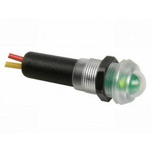 Signal LED Grün mit Fassung und Kabel, Wasserdicht, Signalleuchte 12V, D63D