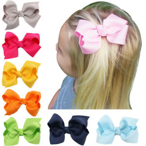3 Inch Hair Bow Butterfly Girls Kids Clips Headwear Bowknot Hair Accessories#
