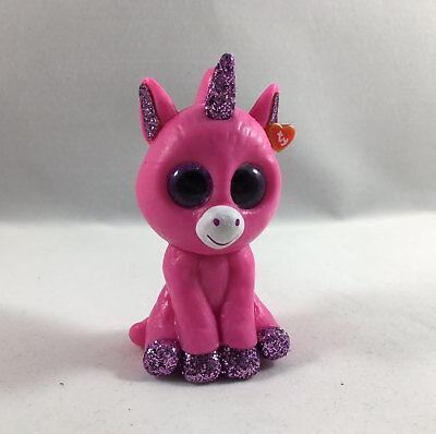 SET of 2 TY Beanie Boos Mini Boo AMETHYST and BUBBLEGUM Unicorn Series 3 Figure