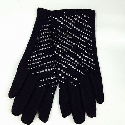Winter Punk Studs Winter Wool iphone Touch Screen Touchable Gloves Black NEW