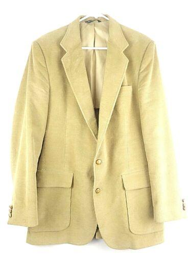 Haggar Beige Corduroy Blazer Jacket Sports Coat Vi