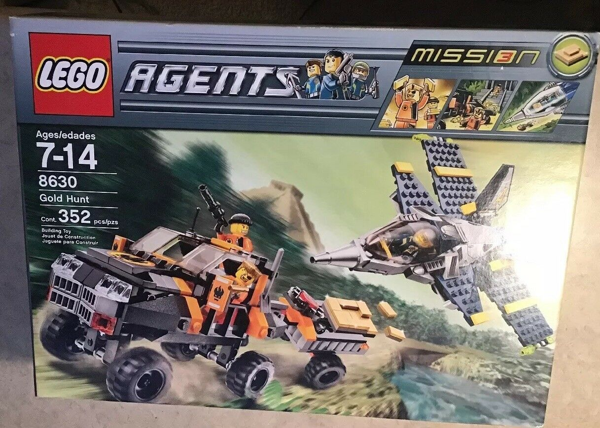 LEGO Agents Gold Hunt 8630 New Sealed