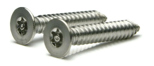 Stainless Steel Tamper Proof Security Torx Sheet Metal Screw 8 x 1//2 QTY 25
