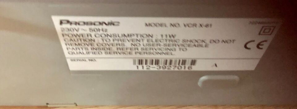 VHS videomaskine, Prosonic, God