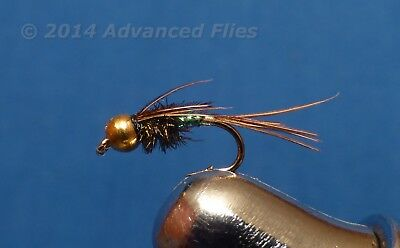 1 dozen Bead Head PINK Scud #16 Nymph BH Trout Fly Fishing Flies NIB