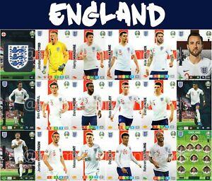 Panini-Adrenalyn-Xl-Uefa-Euro-2020-Inglaterra-Set-completo-de-equipo-de-tarjeta-de-18-Euros