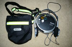 Philips-Portable-CD-Player-45-Seconds-ESP-FM-Tuner-Walking-Shop-Sportline-Fanny