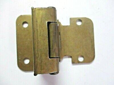"1 Vintage Amerock 7550 Cabinet Door Hinge Wrap Frame Self Close Brass 1//2/"" O/'lay"