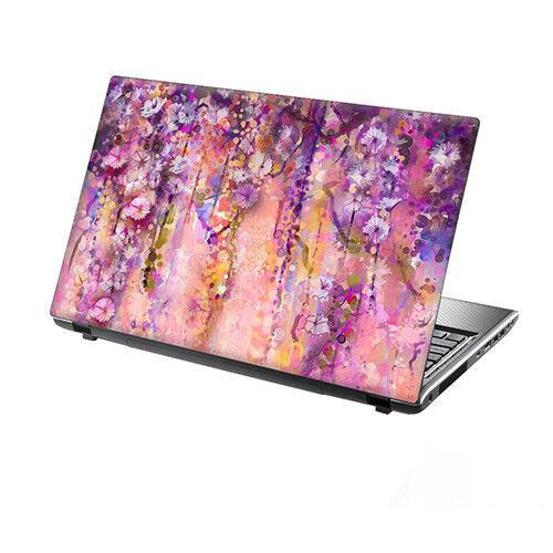 "15.6/"" TaylorHe Laptop Vinyl Skin Sticker Decal Carnival Flowers Pink Floral 2235"