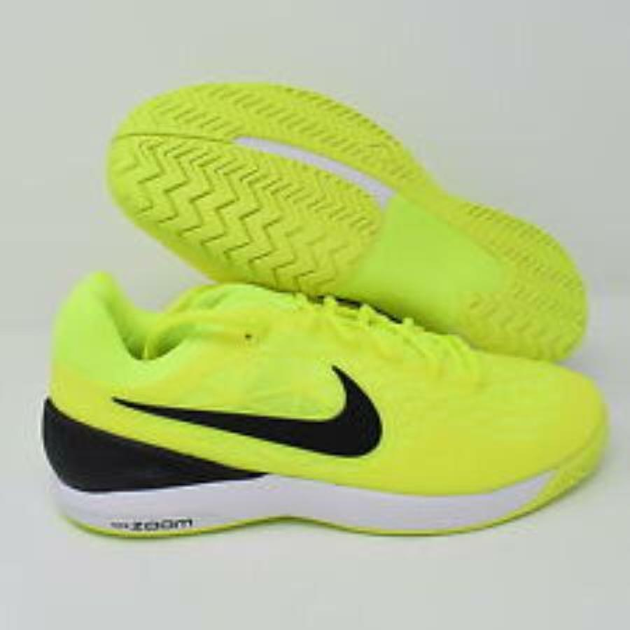 NIKE ZOOM CAGE 2-VOLT GREEN/BLACK/WHITE-SIZE 13-705247-702-NEW IN BOX-RARE/OOP!!