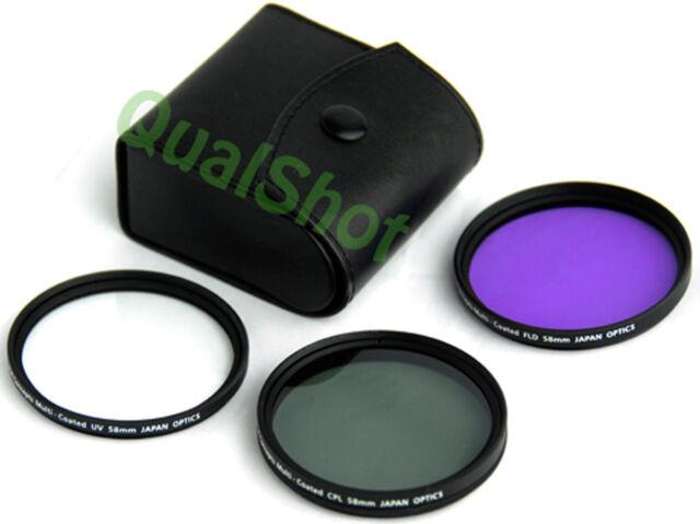 58mm Filter Kit For Canon Eos Rebel K2 Ef 28