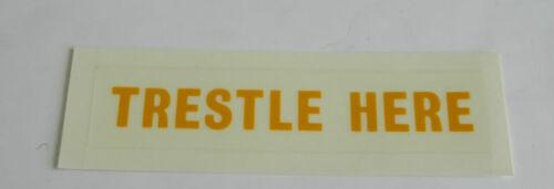 "6M4 G 5323 W1B /""Trestle Here/"" Aircraft Decal Part No 11cm  x 2.5cm"
