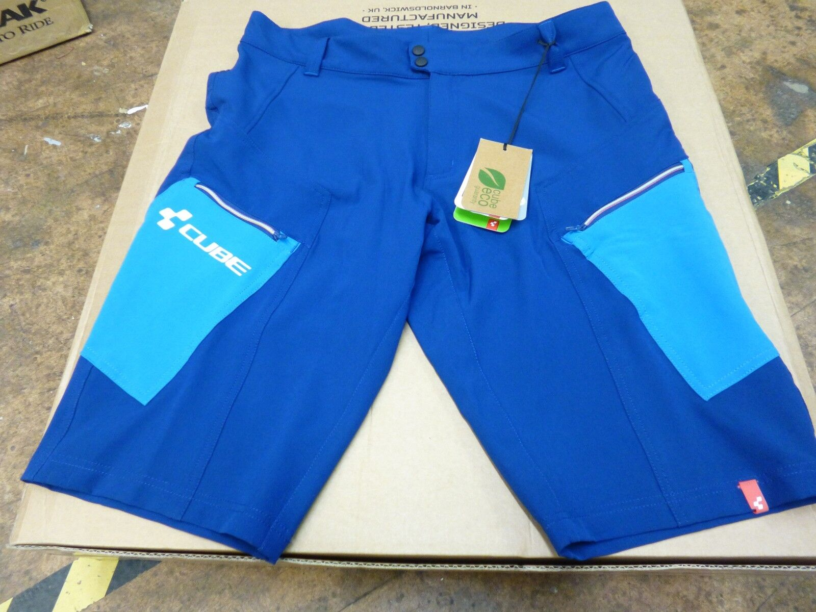 Cube Tour Cycling Shorts, bluee, BNWT
