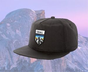 718f5a3286d Image is loading New-Coal-The-Summit-Black-Nylon-Unstructured-Snapback-