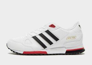 ADIDAS-ZX-750-034-bianco-rosso-034-Uomo-Scarpe-da-ginnastica-stock-limitata