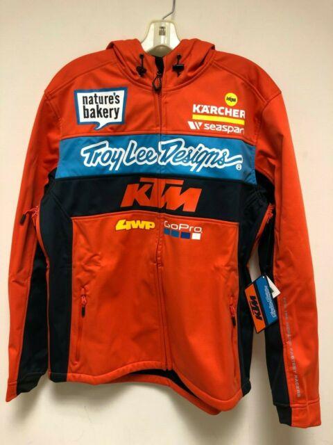 Troy Lee Designs KTM Mens Replica Team Zip Hoodie Hoody Pit Jacket All Sizes