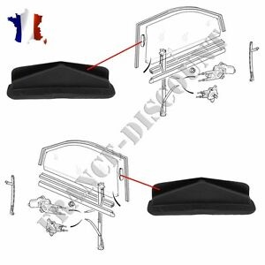 2x fixation guide leve vitre pour citroen saxo peugeot 106 ou 306 ebay. Black Bedroom Furniture Sets. Home Design Ideas