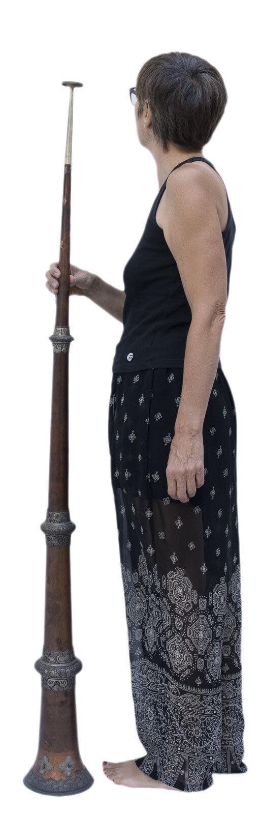 Antik trompe Radong Langhorn dunchen Trompete Tibetische TIBET 159 cm 1055