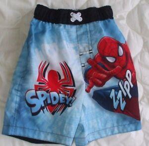 1e012fc1a8 Image is loading Sz-3-3T-Marvel-Spiderman-Swim-Trunks-Shorts-