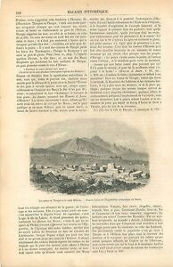 Ruines-de-Thespies-amp-Mont-Helicon-Beotie-Grece-GRAVURE-ANTIQUE-OLD-PRINT-1860