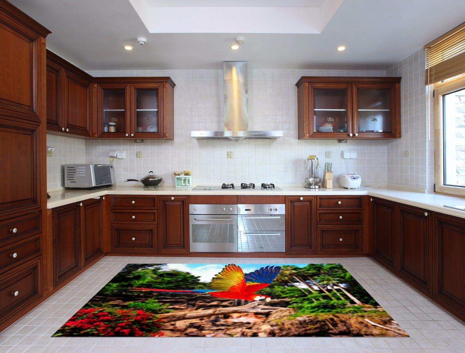 3D Stone Parrot 89 Kitchen Mat Floor Murals Wall Print Wall AJ WALLPAPER UK Kyra