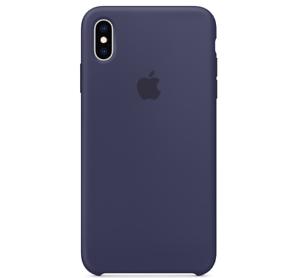Echt-Original-Apple-iPhone-XS-Silikon-Huelle-Silicone-Case-Mitternachtsblau