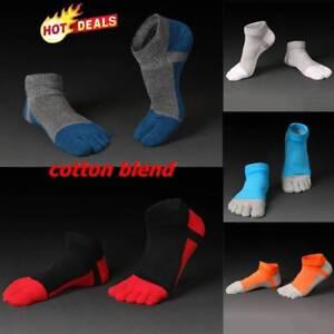 1 Paar Damen Herren Freizeit Baumwolle Zehensocken Sport Fünf Finger Socken