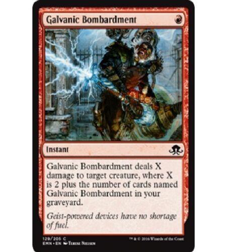 4x MTG: Galvanic Bombardment Magic Card EMN Eldritch Moon Red Common