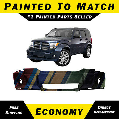 Front Bumper Cover For 2007-2011 Dodge Nitro w// Fog Light Holes Textured Plastic