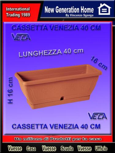 VASO FIORIERA BALCONETTA IN PLASTICA MARRON CM 40